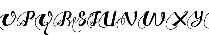 ChocolateHeartLeftSwashes Font UPPERCASE