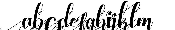 ChocolateHeartLeftSwashes Font LOWERCASE