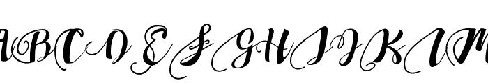 ChocolateHeartLove4 Font UPPERCASE