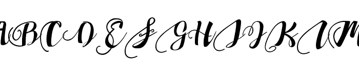 ChocolateHeartLoveUnder Font UPPERCASE