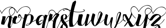 ChocolateHeartLove Font LOWERCASE