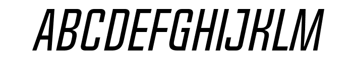 Chosence Light Italic Font LOWERCASE