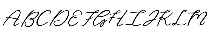 Christine Regular Font UPPERCASE