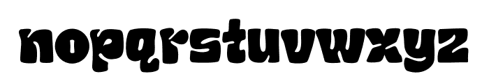 Chubby And Groovy Font LOWERCASE