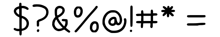 Chubby Regular Font OTHER CHARS