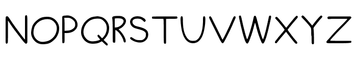 Chubby Regular Font UPPERCASE