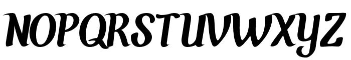 Chunky Wally-Regular Font UPPERCASE
