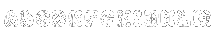 Circus Outline Font UPPERCASE