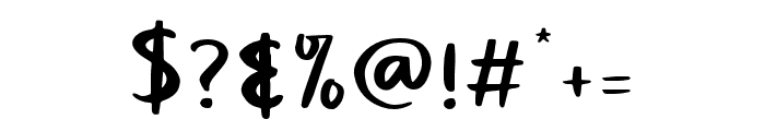 Claudey-Regular Font OTHER CHARS