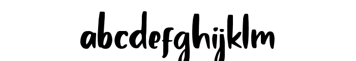 Claudey-Regular Font LOWERCASE