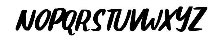 Claudey-Slant Font UPPERCASE