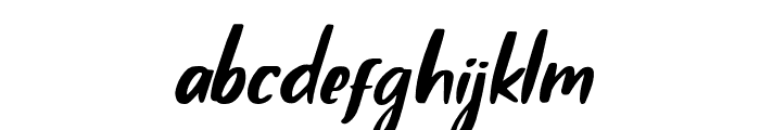 Claudey-Slant Font LOWERCASE
