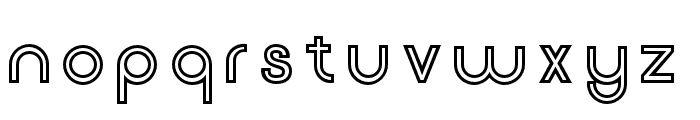 Click-BoldStroked Font LOWERCASE