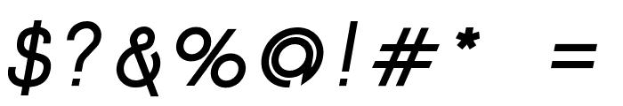 Click-Bolditalic Font OTHER CHARS