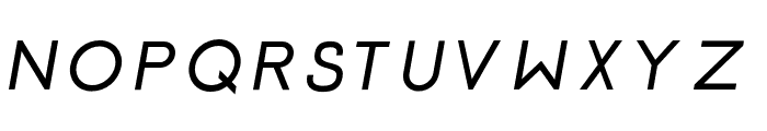 Click-Bolditalic Font UPPERCASE