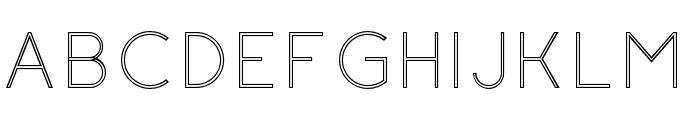 Click-LightStroked Font UPPERCASE