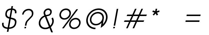 Click-Mediumitalic Font OTHER CHARS
