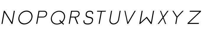 Click-Mediumitalic Font UPPERCASE