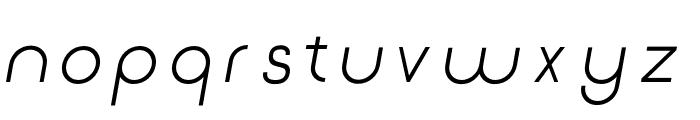 Click-Mediumitalic Font LOWERCASE