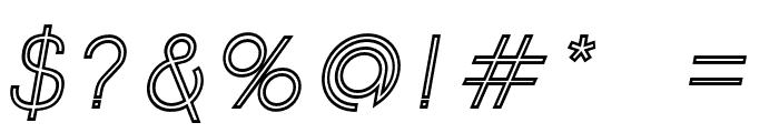 Click-Mediumitalicstroked Font OTHER CHARS