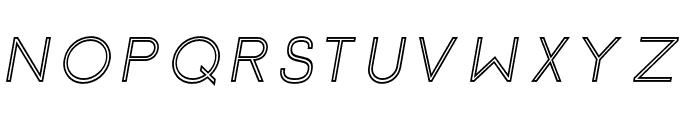 Click-Mediumitalicstroked Font UPPERCASE