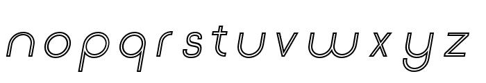 Click-Mediumitalicstroked Font LOWERCASE