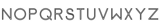 Click-Mediumstroked Font UPPERCASE