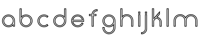 Click-Mediumstroked Font LOWERCASE