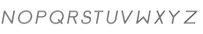 Click-Regular-italic-stroked Font UPPERCASE