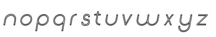 Click-Regular-italic-stroked Font LOWERCASE