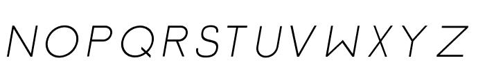 Click-Regular-italic Font UPPERCASE