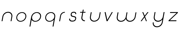 Click-Regular-italic Font LOWERCASE
