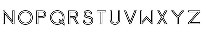 Click-SemiBoldStroked Font UPPERCASE