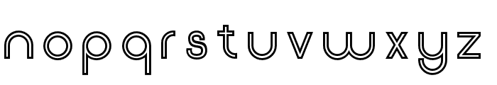 Click-SemiBoldStroked Font LOWERCASE