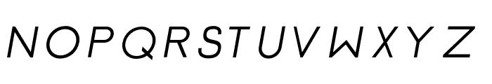 Click-SemiBolditalic Font UPPERCASE
