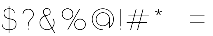 Click-UltraLight Font OTHER CHARS