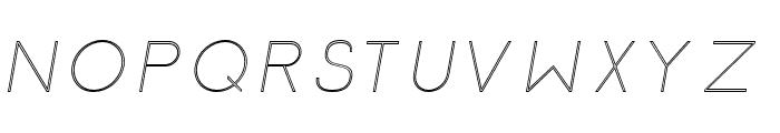 Click-UltraLightItalicStroked Font UPPERCASE