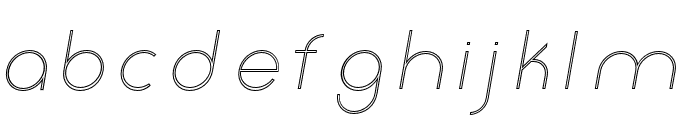 Click-UltraLightItalicStroked Font LOWERCASE