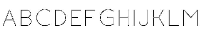 Click-UltraLightStroked Font UPPERCASE