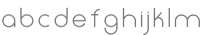 Click-UltraLightStroked Font LOWERCASE