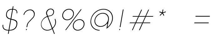 Click-Ultralight-italic Font OTHER CHARS