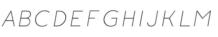 Click-Ultralight-italic Font UPPERCASE