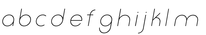 Click-Ultralight-italic Font LOWERCASE