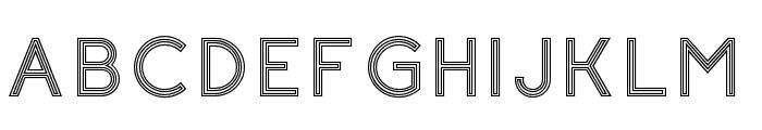 Click-stripes Font UPPERCASE