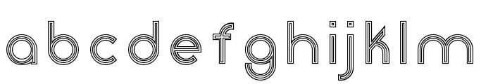 Click-stripes Font LOWERCASE