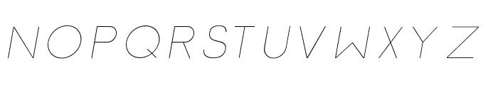 Click-thinitalic Font UPPERCASE