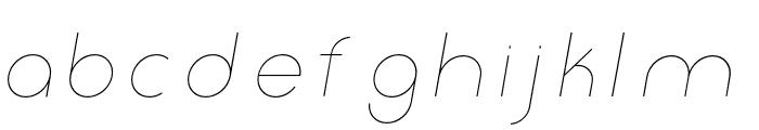 Click-thinitalic Font LOWERCASE
