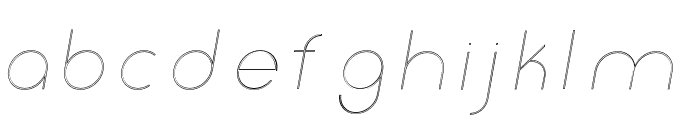 Click-thinitalicstroked Font LOWERCASE