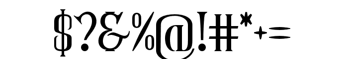 CoasterGhost-Regular Font OTHER CHARS