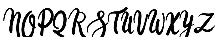Cocolatte Font UPPERCASE